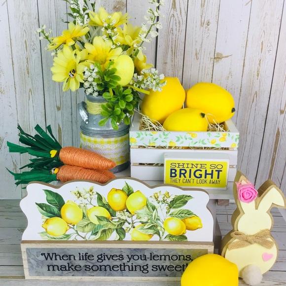 Hobby Lobby Accents Shine So Bright Lemon Small Decors Poshmark